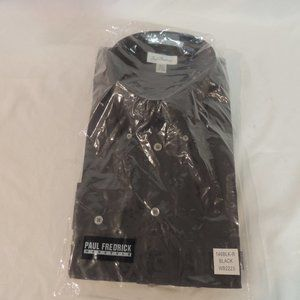 Paul Fredrick Mens Black dress shirt size 17